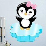 Kinderzimmer Wandtattoo: Penguin Eis 1
