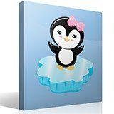 Kinderzimmer Wandtattoo: Penguin Eis 2