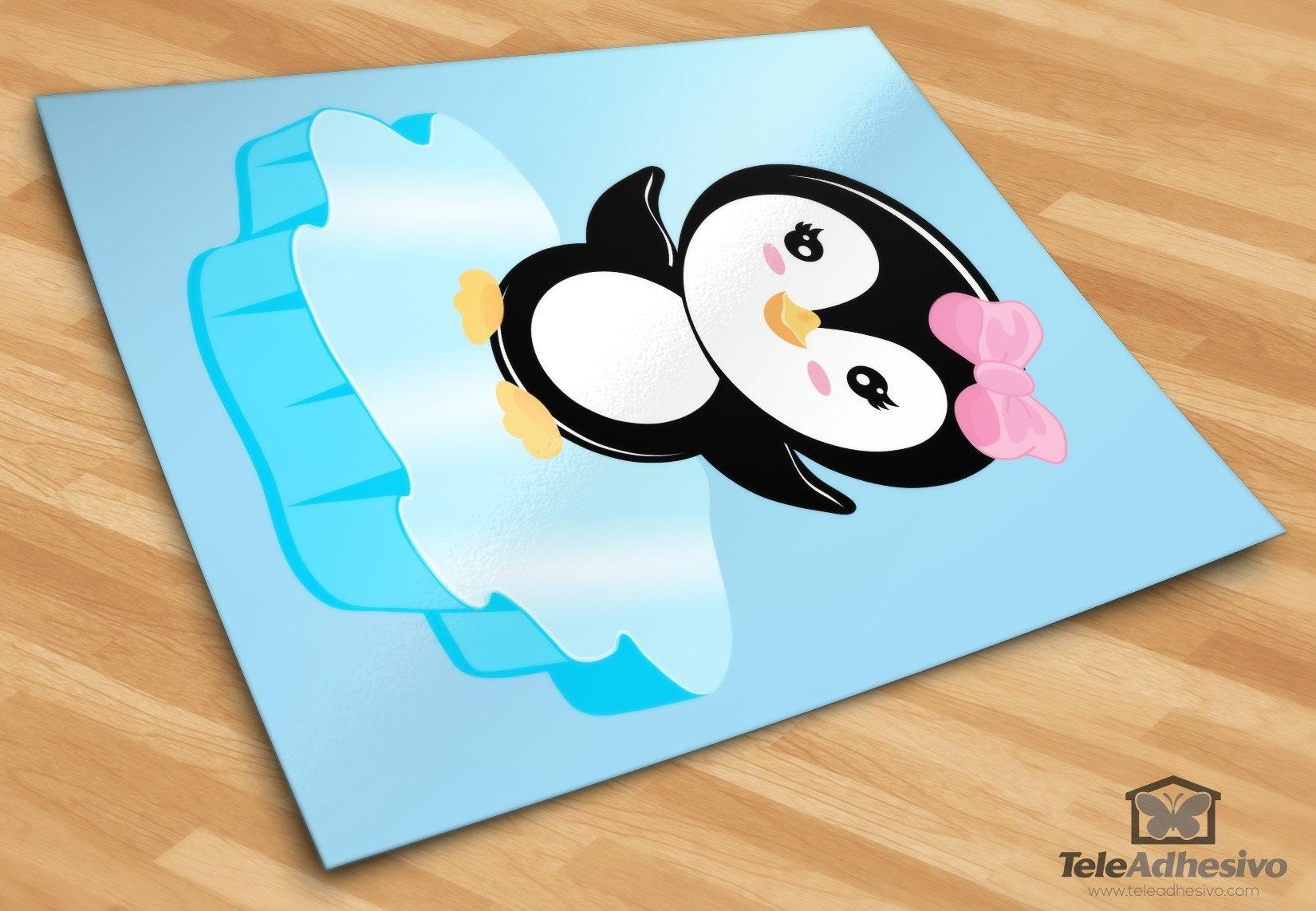 Kinderzimmer Wandtattoo: Penguin Eis