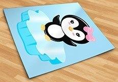 Kinderzimmer Wandtattoo: Penguin Eis 3