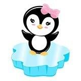 Kinderzimmer Wandtattoo: Penguin Eis 4