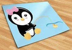 Kinderzimmer Wandtattoo: penguin Fischerei 5