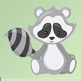 Kinderzimmer Wandtattoo: Raccoon Wald 3