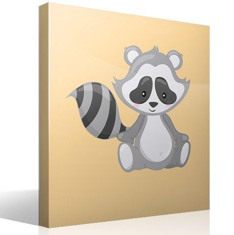 Kinderzimmer Wandtattoo: Raccoon Wald