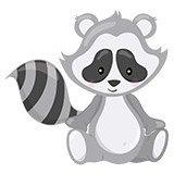 Kinderzimmer Wandtattoo: Raccoon Wald 6