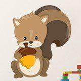 Kinderzimmer Wandtattoo: Wald Eichhörnchen 3