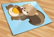 Kinderzimmer Wandtattoo: Wald Eichhörnchen 5