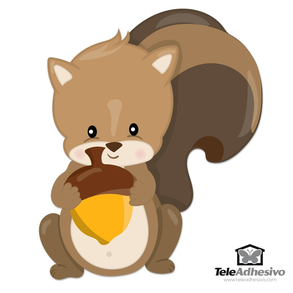 Kinderzimmer Wandtattoo: Wald Eichhörnchen