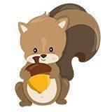 Kinderzimmer Wandtattoo: Wald Eichhörnchen 6
