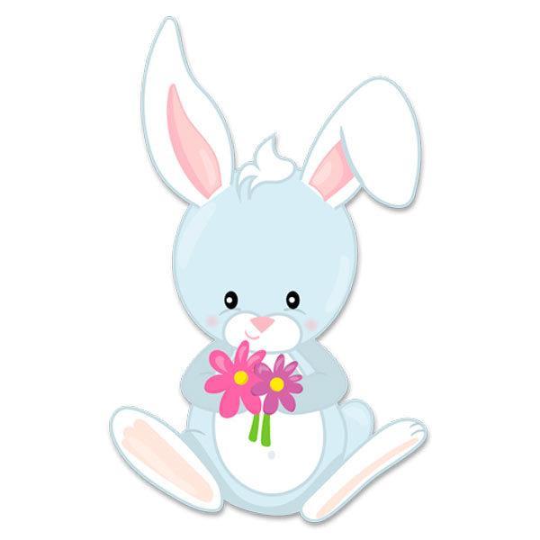 Wandtattoo Kinder Hase Mit Blumen Webwandtattoo Com