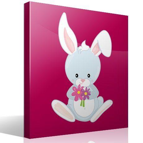 Kinderzimmer Wandtattoo: Wald kaninchen
