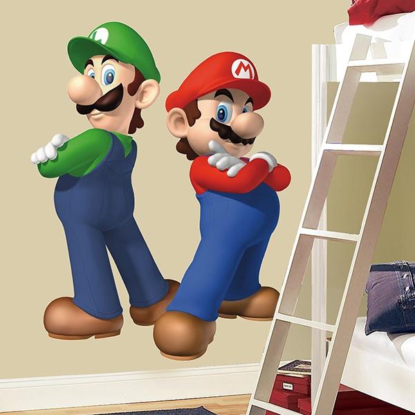Kinder wandtattoo Super Mario und Luigi | WebWandtattoo.com