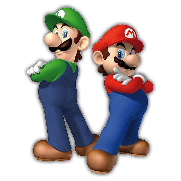 kinder wandtattoo super mario und luigi. Black Bedroom Furniture Sets. Home Design Ideas