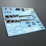 Aufkleber: Kit Yamaha 50th Anniversary Laguna Seca 2005  3