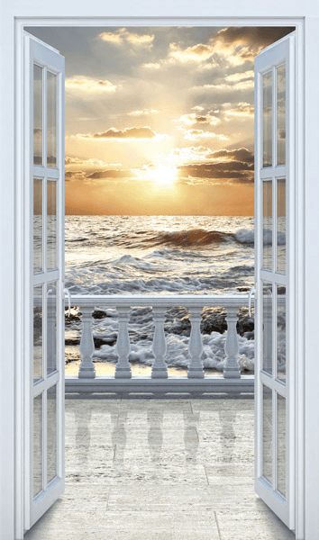 Wandtattoos: Tür, um am Strand Balkon