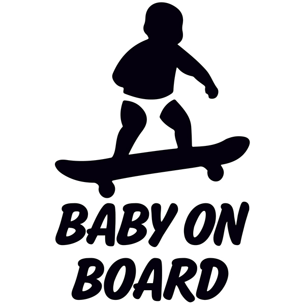 aufkleber baby an bord skate. Black Bedroom Furniture Sets. Home Design Ideas