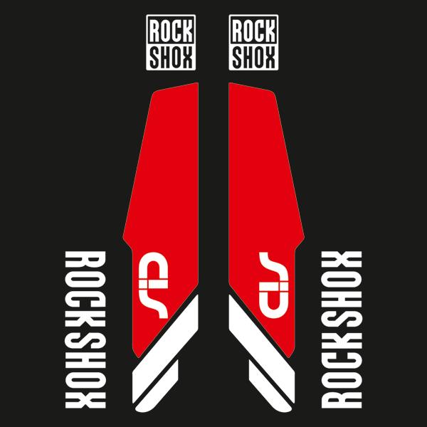 Aufkleber: Aufkleber Rock Shox Sid Gabeln Mountain Bike