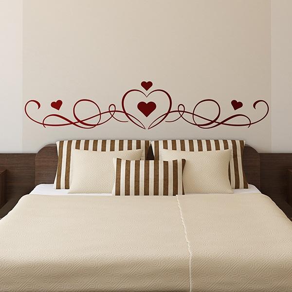 wandtattoo kopfteil bett von herzen. Black Bedroom Furniture Sets. Home Design Ideas