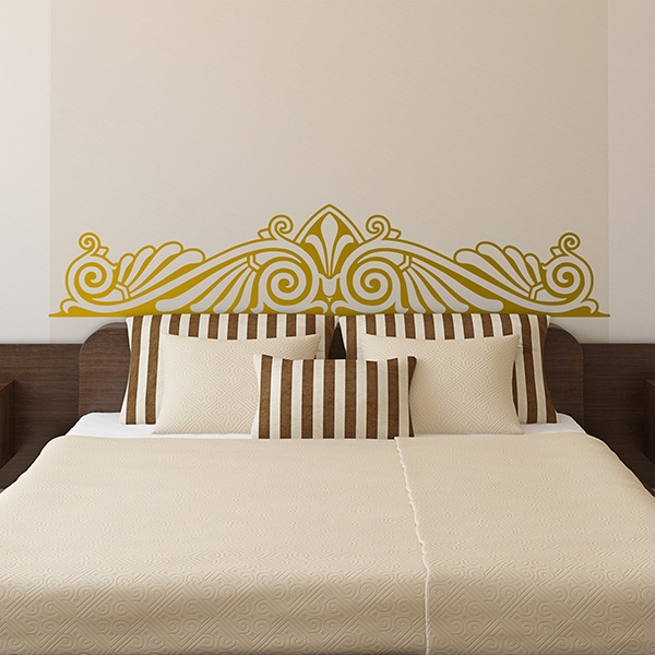wandtattoo kopfteil bett zier. Black Bedroom Furniture Sets. Home Design Ideas