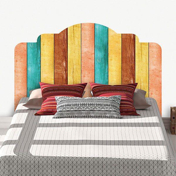 bett kopfteil wandtattoo. Black Bedroom Furniture Sets. Home Design Ideas
