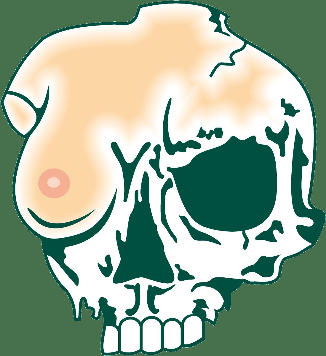 Aufkleber: Schädel