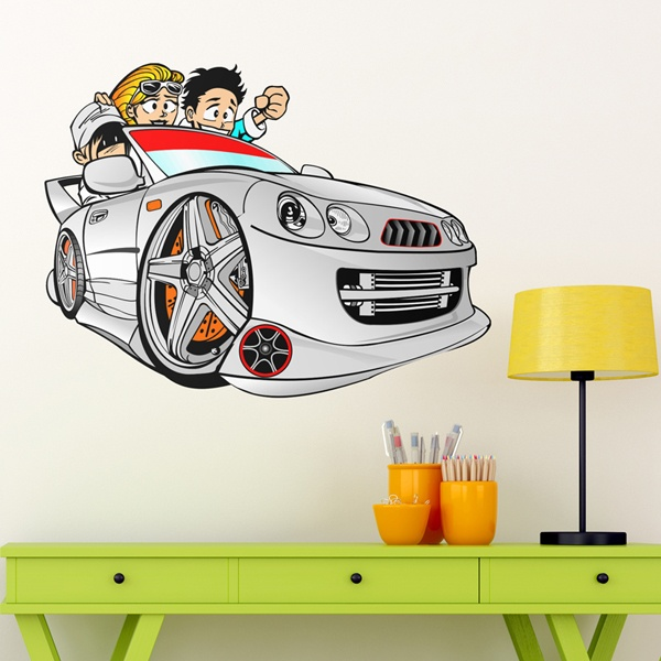 Kinderzimmer Wandtattoo: Cartoon Car