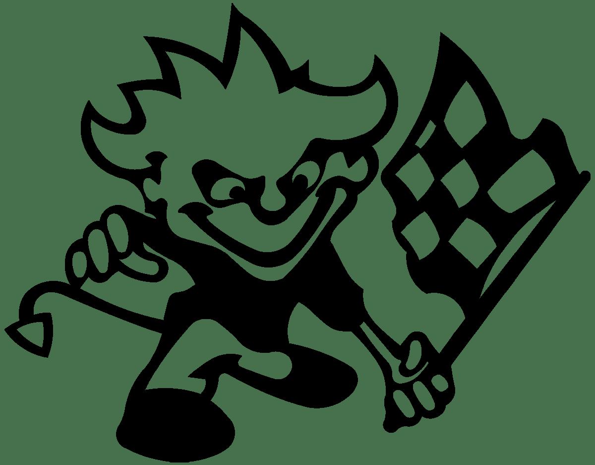 Aufkleber: Racing Devil