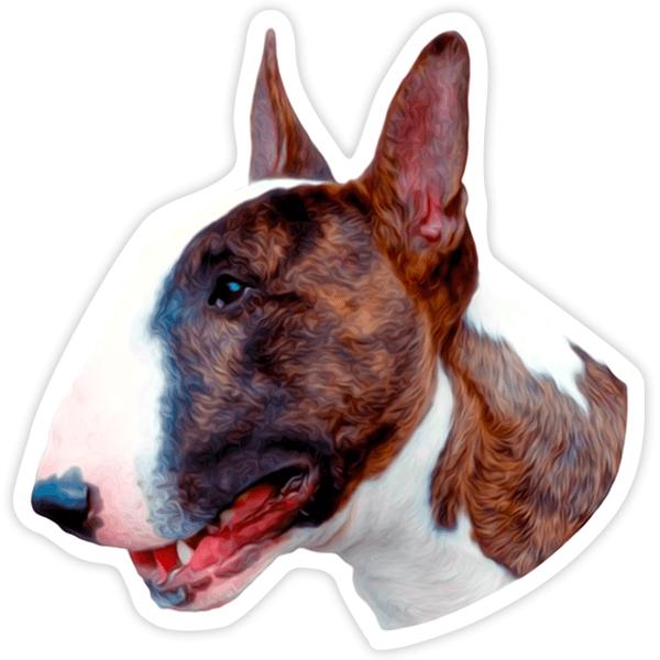 Aufkleber: Bull Terrier