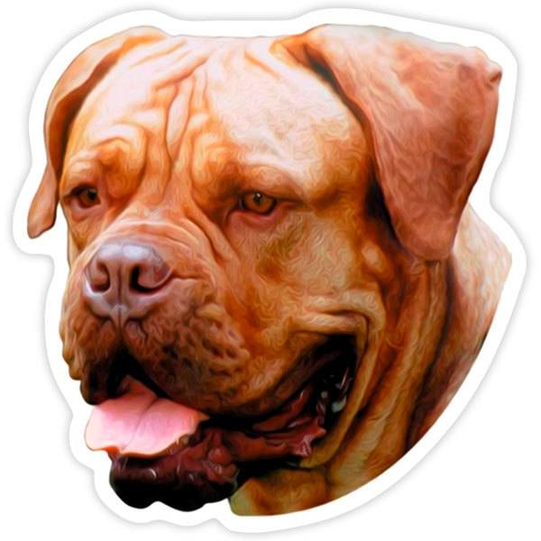 Aufkleber: Dogue De Bordeaux