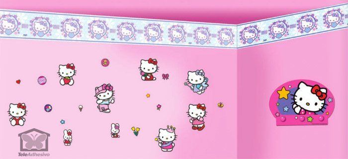 Kinderzimmer Wandtattoo: Valance Hello Kitty