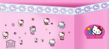 Kinderzimmer Wandtattoo: Valance Hello Kitty 3