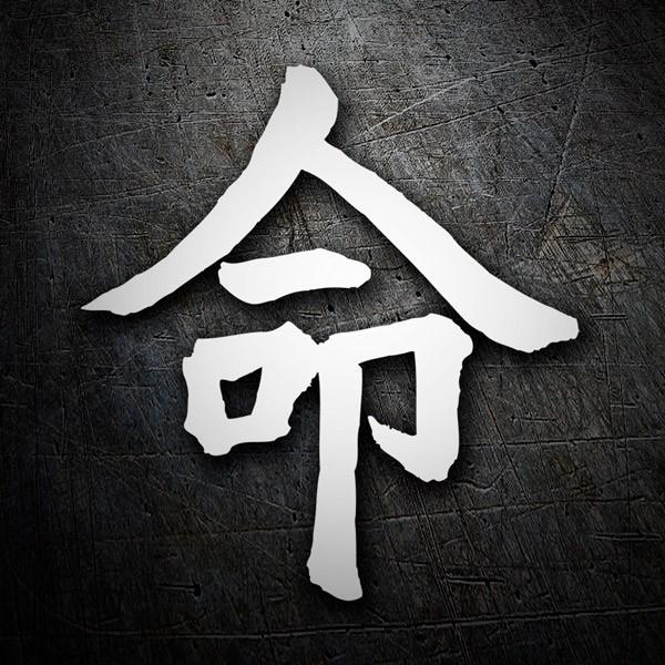 Aufkleber Kanji Schicksal Brief I Webwandtattoocom