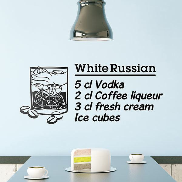 Wandtattoos: Cocktail White Russian - englisch 0
