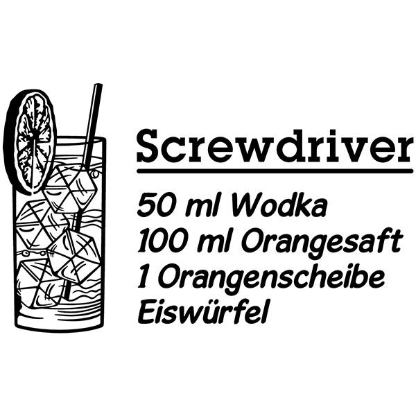 Wandtattoos: Cocktail Screwdriver - deutsch