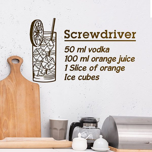 Wandtattoos: Cocktail Screwdriver - englisch
