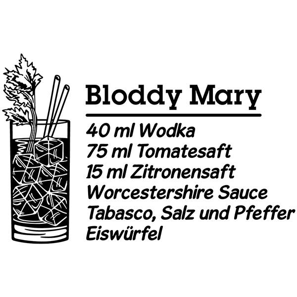 Wandtattoos: Cocktail Bloddy Mary - deutsch