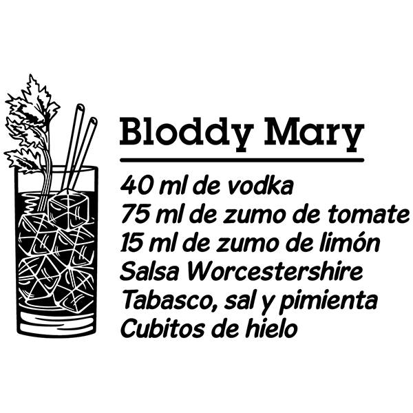 Wandtattoos: Cocktail Bloddy Mary - spanisch