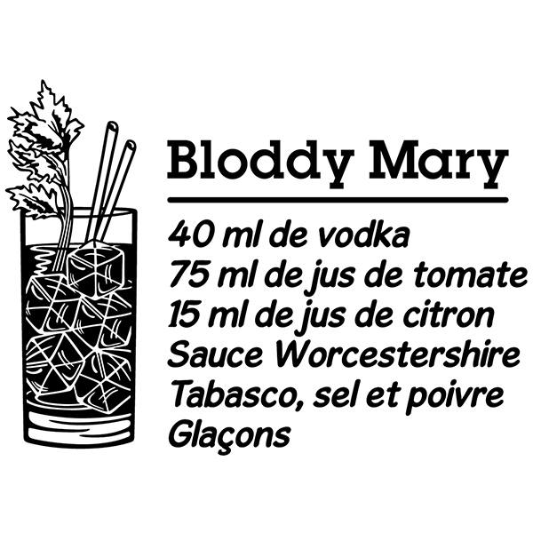 Wandtattoos: Cocktail Bloddy Mary - französisch