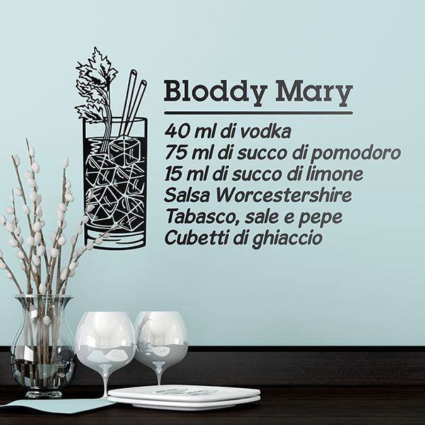 Wandtattoos: Cocktail Bloddy Mary - italienisch 0