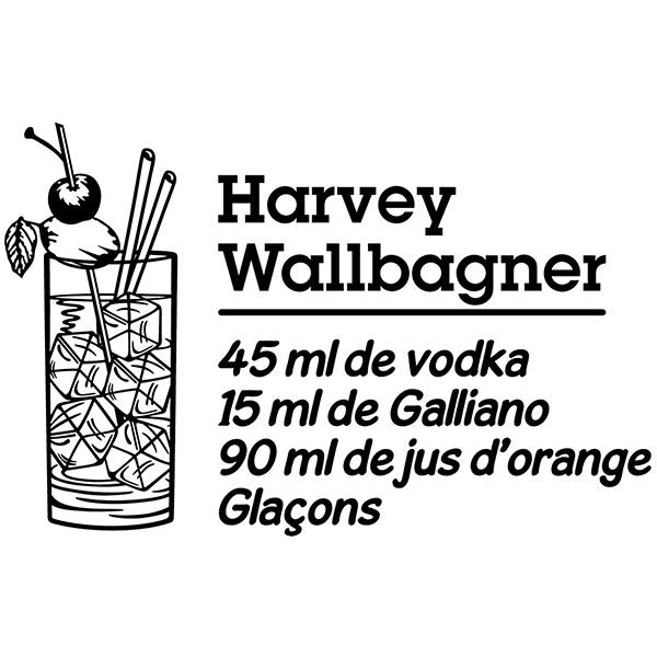 Wandtattoos: Cocktail Harvey Wallbagner - französisch
