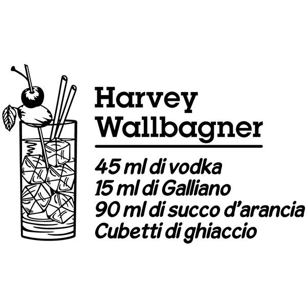 Wandtattoos: Cocktail Harvey Wallbagner - italienisch