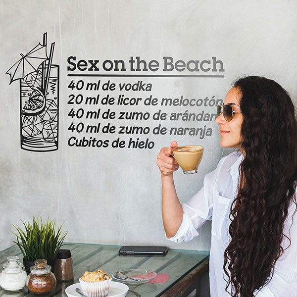 Wandtattoos: Cocktail Sex on the Beach - spanisch