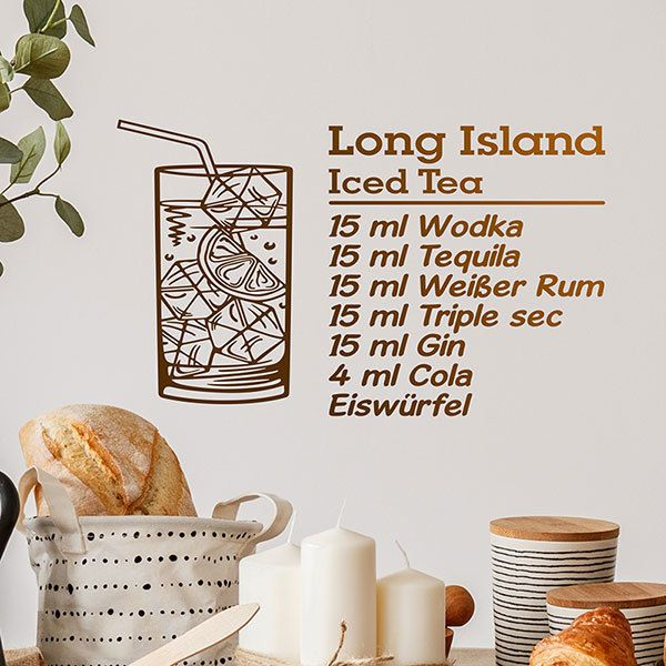 Wandtattoos: Cocktail Long Island - deutsch 0