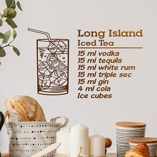 Wandtattoos: Cocktail Long Island - englisch 0