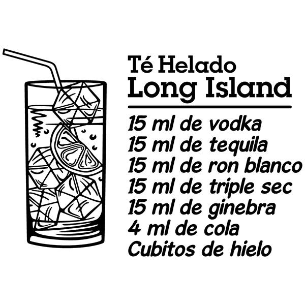 Wandtattoos: Cocktail Long Island - spanisch