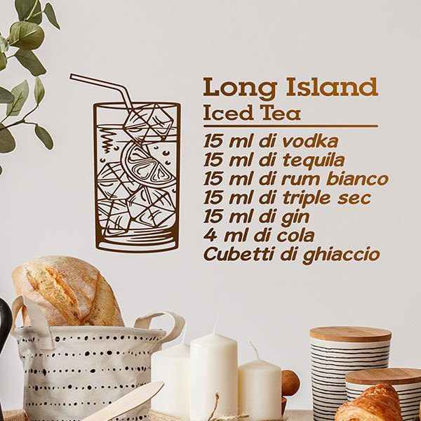 Wandtattoos: Cocktail Long Island - italienisch