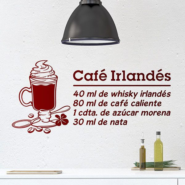 Wandtattoos: Cocktail Irish Coffee - spanisch