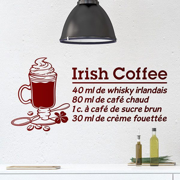 Wandtattoos: Cocktail Irish Coffee - französisch
