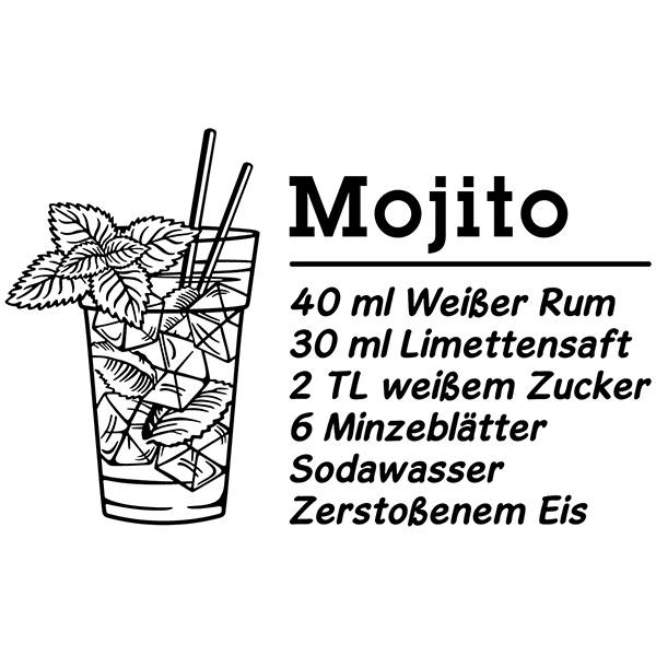 Wandtattoos: Cocktail Mojito - deustch