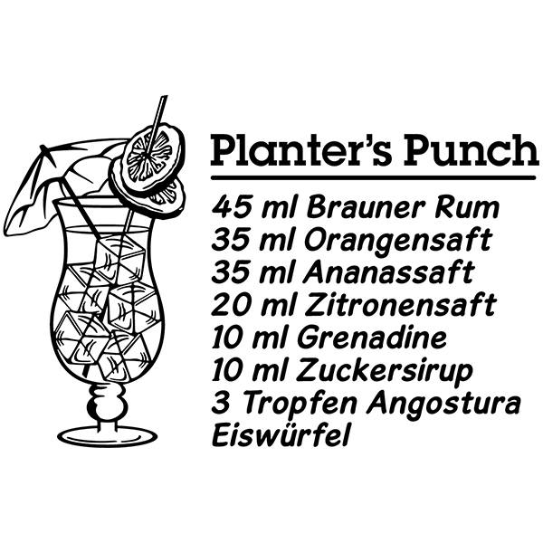 Wandtattoos: Cocktail PlanterCocktail Planter's Punch - deutsch